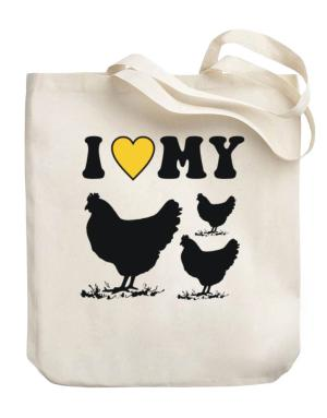 I love my chickens Canvas Tote Bag