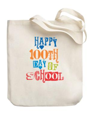 Happy 100th day of school cool style Canvas Tote Bag