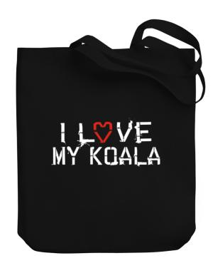 I Love My Koala Canvas Tote Bag