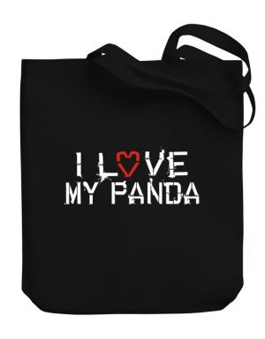 I Love My Panda Canvas Tote Bag
