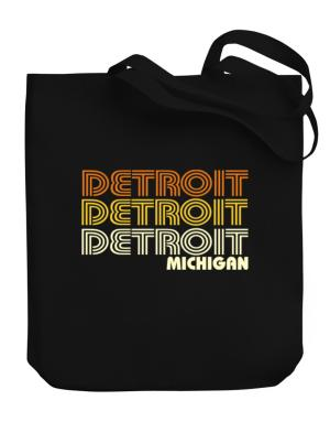 Detroit State Canvas Tote Bag