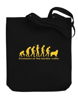 Evolution Of The Border Collie Canvas Tote Bag