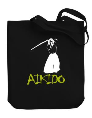 Aikido Silhouette Canvas Tote Bag