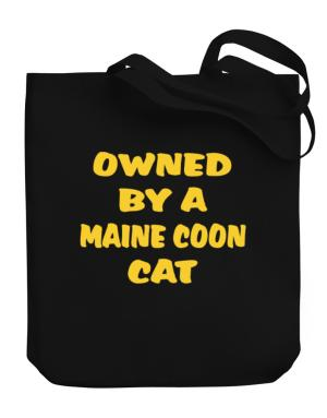 Owned By S Maine Coon Canvas Tote Bag