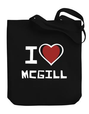 I Love Mcgill Canvas Tote Bag