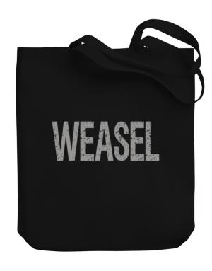 Weasel - Vintage Canvas Tote Bag