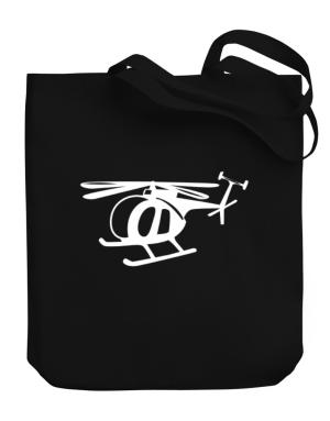 Mini Helicopter Canvas Tote Bag