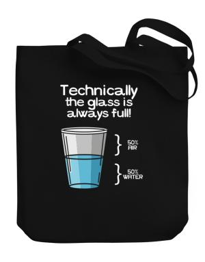 Bolso de Technically the glass is always full!
