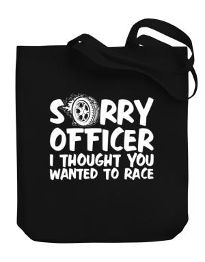 Bolso de Sorry officer I thought you wanted to race