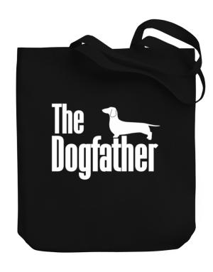The dogfather Dachshund Canvas Tote Bag
