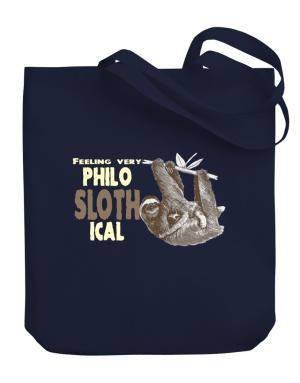 Philosophical Sloth Canvas Tote Bag