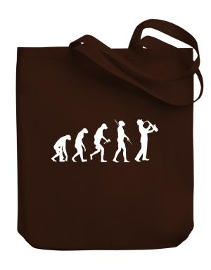 Saxophone Player Evolution Canvas Tote Bag