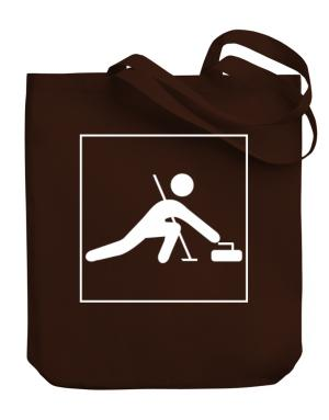 Curling-Pictogram Canvas Tote Bag