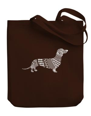 Dachshund Artistic Canvas Tote Bag
