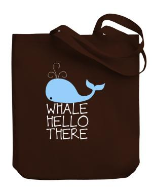 Whale hello there Canvas Tote Bag