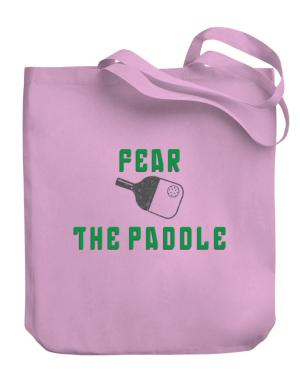 Fear the Paddle Pickleball Canvas Tote Bag