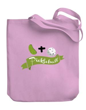 Pickle plus ball equals pickleball Canvas Tote Bag