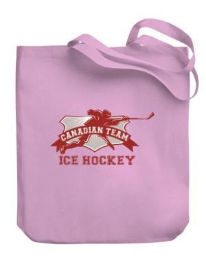 Canadian team ice hockey Canada Canvas Tote Bag