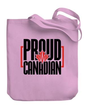 Canada proud Canadian Canvas Tote Bag