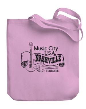 Music city Usa Nashville Tennessee Canvas Tote Bag