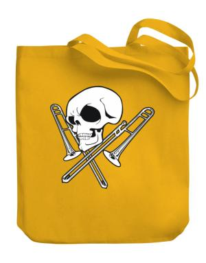 Skull and Trombone Canvas Tote Bag