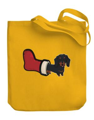 Dachshund Stocking Stuffer Canvas Tote Bag