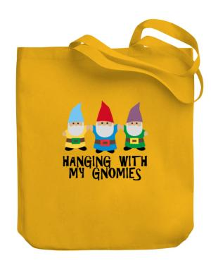 Hanging with my Gnomies Canvas Tote Bag