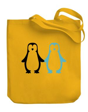 Penguin Always together Canvas Tote Bag