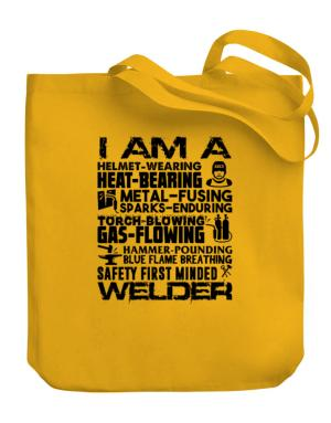 I am a welder Canvas Tote Bag