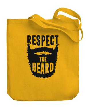 Respect the beard Canvas Tote Bag