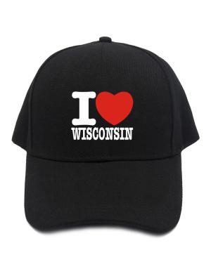 I Love Wisconsin Baseball Cap