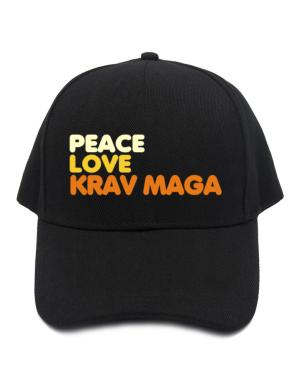 Peace , Love And Krav Maga Baseball Cap