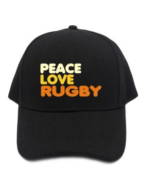 Peace , Love And Rugby Baseball Cap