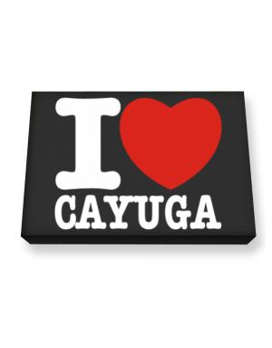 I Love Cayuga Canvas square