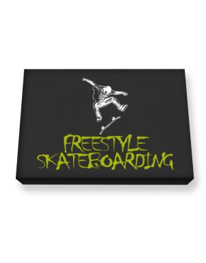 Freestyle Skateboarding Canvas square