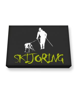 Skijoring Canvas square