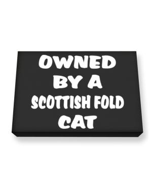 Owned By S Scottish Fold Canvas square