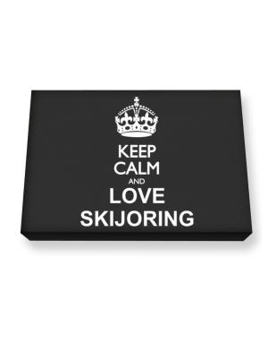Keep calm and love Skijoring Canvas square