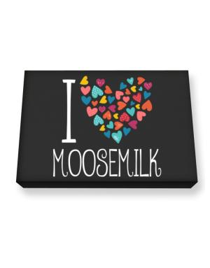 I love Moosemilk colorful hearts Canvas square