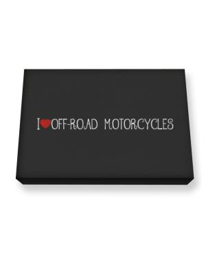 I love Off-Road Motorcycles cool style Canvas square