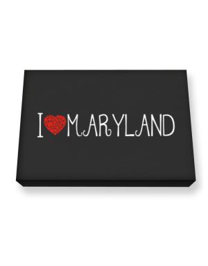 I love Maryland cool style Canvas square