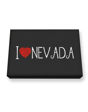 I love Nevada cool style Canvas square