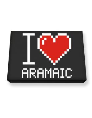 I love Aramaic pixelated Canvas square