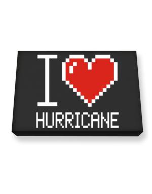 I love Hurricane pixelated Canvas square