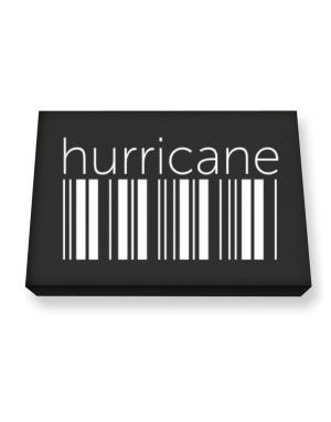 Hurricane barcode Canvas square