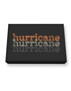Hurricane repeat retro Canvas square