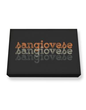 Sangiovese repeat retro Canvas square
