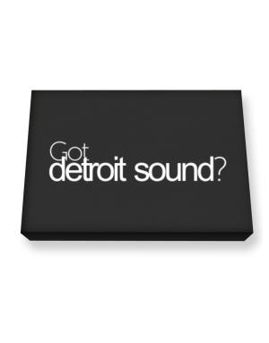 Got Detroit Sound? Canvas square