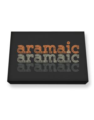 Aramaic repeat retro Canvas square