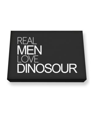 Real men love Dinosour Canvas square